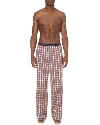 Ralph Lauren | Red Watford Checked Cotton Pyjama Bottoms for Men | Lyst