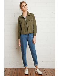 Forever 21 | Green Boxy Utility Jacket You've Been Added To The Waitlist | Lyst