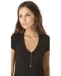 Jennifer Zeuner - Metallic Open Star Lariat Necklace - Lyst