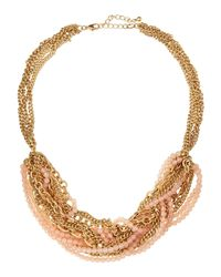 Lydell NYC | Pink Mixed Chain & Beaded Torsade Necklace | Lyst