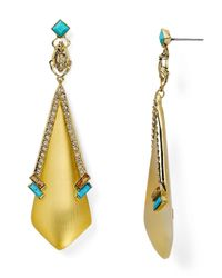 Alexis Bittar | Metallic Lucite Dangling Beetle Stud Earrings | Lyst