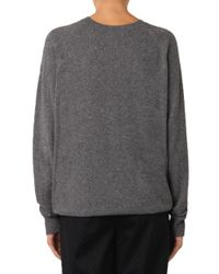 Alexander Wang Gray Sheer Peel-Away Knit Sweater