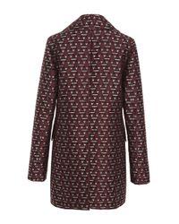 Marni Purple Magi Jacquard Double Breasted Jacket