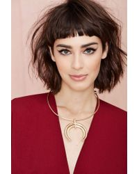 Nasty Gal | Metallic Moon Swoon Necklace | Lyst