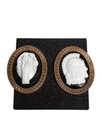 KTZ - Metallic Gladiator Oval Earrings Gold/black - Lyst