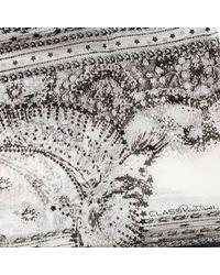 Roberto Cavalli - Black Foulard Stola 70X180 Silk Print Old Wandst - Lyst