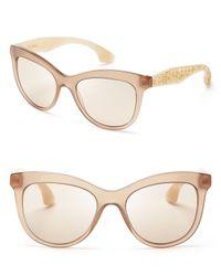 Miu Miu - Natural Crystallized Cat Eye Sunglasses - Lyst