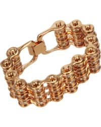 Mawi | Pink Crystal Triple Link Bike Chain Bracelet | Lyst