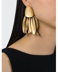 Monies | Metallic Pendant Earrings | Lyst