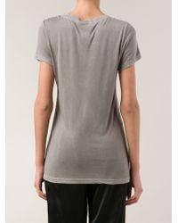 Cotton Citizen Gray Long Round Neck T-Shirt