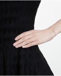 Rosa De La Cruz Metallic Smile 18k Gold And Diamond Ring