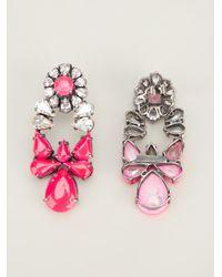 Shourouk Pink Mia Earrings