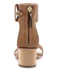Dolce Vita Brown Foxie Low Heel Sandals Caramel