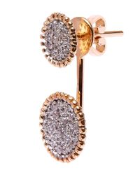 Kismet by Milka - Metallic Gold Two Disc White Diamond Earcuff - Lyst