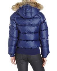 Pyrenex - Blue New Mythic Real Fur Trim Down Jacket - Lyst