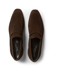 Richard James - Brown Suede Loafers for Men - Lyst