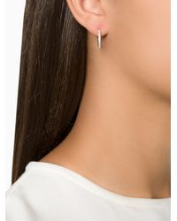 Ileana Makri | Gray 'bull' Diamond Hoop Earrings | Lyst