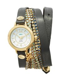 La Mer Collections | Metallic 'del Mar' Leather Strap Wrap Watch | Lyst