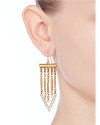 Lulu Frost - Metallic Poseidon Arrow Earrings - Lyst
