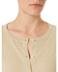 Therapy | Natural Metallic Cardigan | Lyst