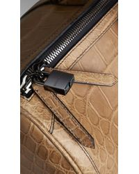 Burberry - Brown Alligator Leather Holdall for Men - Lyst