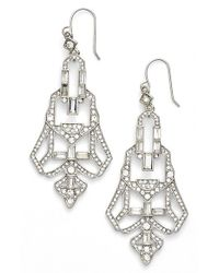 Lauren by Ralph Lauren | Metallic 'deco Drama' Chandelier Earrings | Lyst
