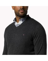 Tommy Hilfiger | Green Big & Tall V-neck Sweater for Men | Lyst