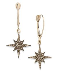 Wrapped in Love   Metallic ™ Champagne Diamond Star Drop Earrings In Yellora™ (1/4 Ct. T.w.)   Lyst