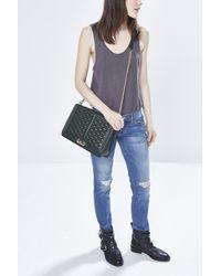 Rebecca Minkoff Green Love Jumbo Shoulder Bag