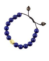 Armenta | Blue Lapis & Diamond Bead Skull Bracelet | Lyst