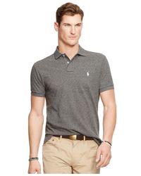 Polo Ralph Lauren - Black Custom-fit Mesh Polo Shirt for Men - Lyst