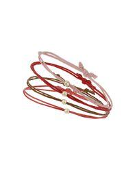 TOPSHOP | Pink Adjustable Cord Bead Bracelets | Lyst