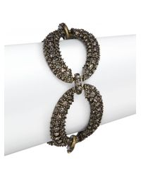 Saks Fifth Avenue | Brown Pavé Oval Link Bracelet/taupe | Lyst