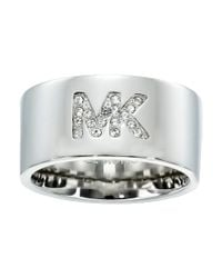 Michael Kors | Metallic Logo Banded - Wide Ring | Lyst