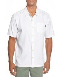 Jack O'neill White 'grove' Regular Fit Camp Shirt for men