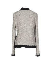 Lanvin - Gray Jacket with Sequins - Lyst