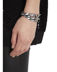 McQ | Black And White Triple Wrap Leather Bracelet | Lyst