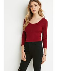 Forever 21 | Purple Classic Ribbed Crop Top | Lyst