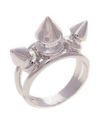 Noir Jewelry | Metallic Beki 3 Spike Ring | Lyst