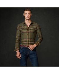 b48a1a48f6 Ralph Lauren Purple Label Elbowpatch Plaid Aston Shirt in Green for ...