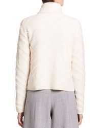 Proenza Schouler - Natural Fringe Jacquard Turtleneck Sweater - Lyst