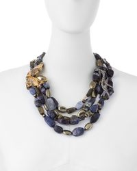 Alexis Bittar | Multicolor Multi-Strand Cluster Necklace | Lyst