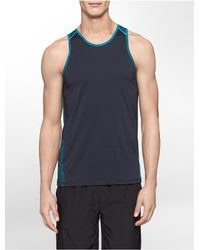 Calvin Klein | Blue White Label Performance Classic Fit Colorblock Tank Top for Men | Lyst