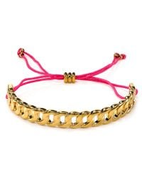 Marc By Marc Jacobs | Pink Solidly Linked Friendship Bracelet | Lyst
