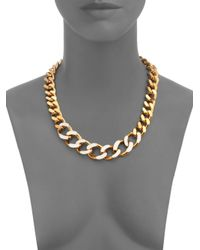 St. John - Metallic Chain Link Necklace - Lyst
