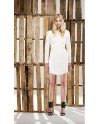 Tibi White Katrin Quilting Paneled Dress