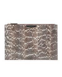 Givenchy Brown Antigona Snakeskin Clutch