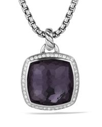 David Yurman | Albion Pendant With Black Orchid With Diamonds | Lyst