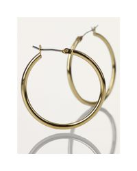 Ralph Lauren | Metallic Small Gold Hoop Earrings | Lyst