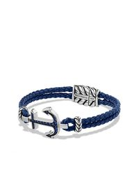 David Yurman | Blue Anchor Bracelet With Sapphires for Men | Lyst